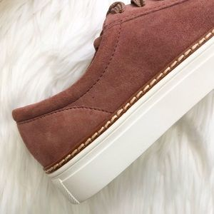 Caslon Shoes - Dark Dusty Rose Suede/Leather Cap Toe Sneakers